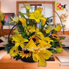 Canasta Flores CNST 003