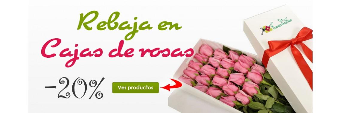 Rebajas en caja de flores